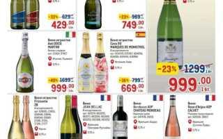 Каталог товаров МЕТРО: Алкоголь по акции с 5 по 18 августа 2021 года