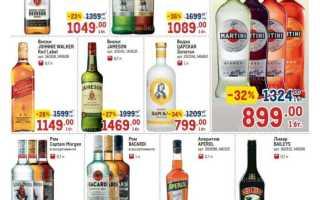 Каталог товаров МЕТРО: Алкоголь по акции с 22 июля по 4 августа 2021 года