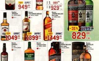 Каталог товаров МЕТРО: Алкоголь по акции с 15 по 28 апреля 2021 года