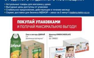 Каталог товаров МЕТРО: Проходим по ценам с 30 сентября по 27 октября 2021 года