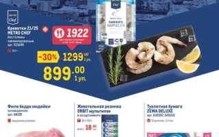 Каталог товаров МЕТРО Кэш энд Керри с 22 июля по 4 августа 2021 года